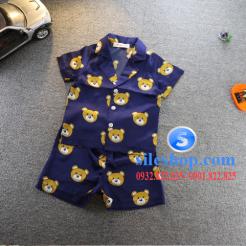 Set đồ ngủ- pijama gấu cho bé gái đáng yêu-sileshop (3)