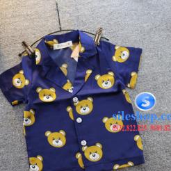 Set đồ ngủ- pijama gấu cho bé gái đáng yêu-sileshop (5)