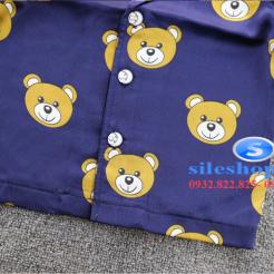Set đồ ngủ- pijama gấu cho bé gái đáng yêu-sileshop (7)