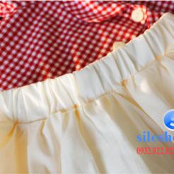 Set bộ áo kiểu ca rô đỏ chân váy cho bé gái đáng yêu-sileshop (28)