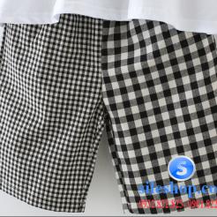 Set bộ áo thun quần sọc ca rô cho bé-sileshop (1)