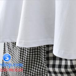 Set bộ áo thun quần sọc ca rô cho bé-sileshop (4)