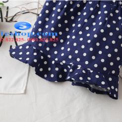 Set bộ chân váy chấm bi áo thun đắp ren cho bé gái đáng yêu-sileshop (12)