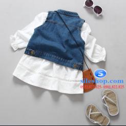 Set jean đầm trắng cho bé gái cực ngầu-sileshop (11)