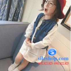 Set jean đầm trắng cho bé gái cực ngầu-sileshop (13)