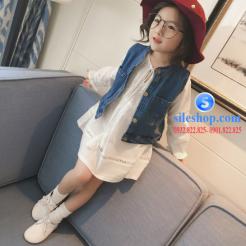 Set jean đầm trắng cho bé gái cực ngầu-sileshop (14)