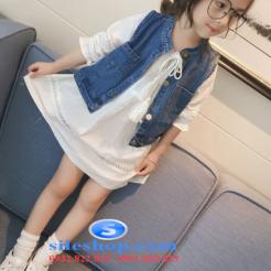 Set jean đầm trắng cho bé gái cực ngầu-sileshop (18)