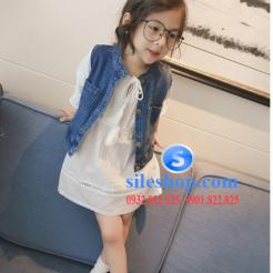 Set jean đầm trắng cho bé gái cực ngầu-sileshop (19)