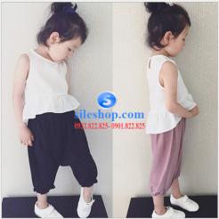 set bộ cho bé gái chất đũi cực mát-sileshop (1)